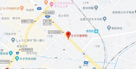 たけだ整骨院のGoogleマップ